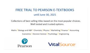 Free trial to Pearson e-textbooks