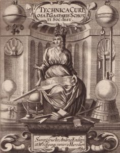 The front page of the book by T. Gaspar Schott